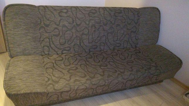 Brązowa wersalka rozkładana sofa kanapa