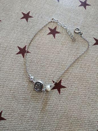 Colares e pulseira aço prata