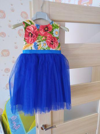 Детское платье в украинском стиле вишиванка