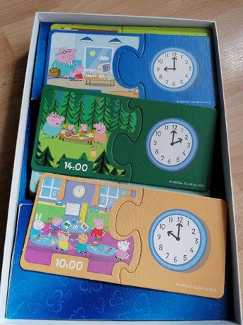 Puzzle Świnka Peppa- nauka zegara