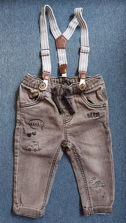 Spodnie jeansowe Cool Club z szelkami, rozmiar 68