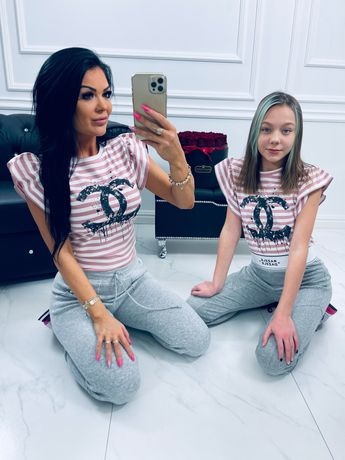 Bluzka mama córka komplet