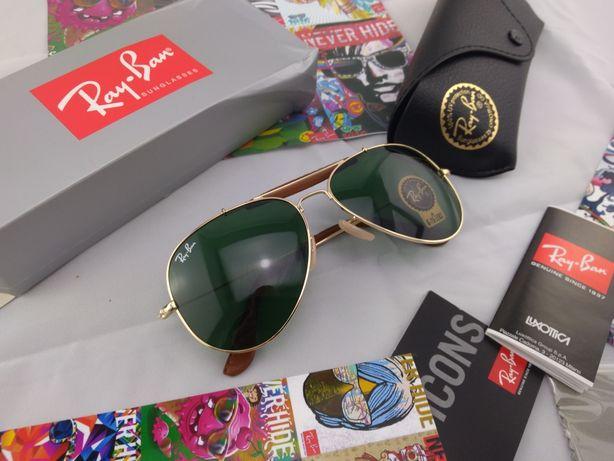 Ray ban aviador pele verde clássico rayban wayfarer óculos sol cat