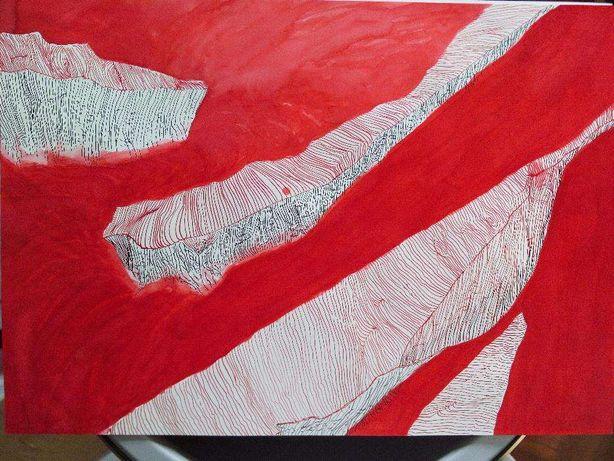 Desenho pintura original tinta-da-china e aparo 29,7 x 42 cm