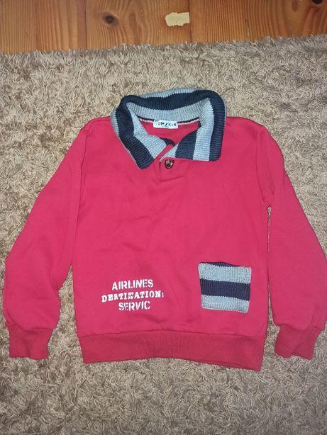 Теплий червоний светр на хлопчика 134см-140см