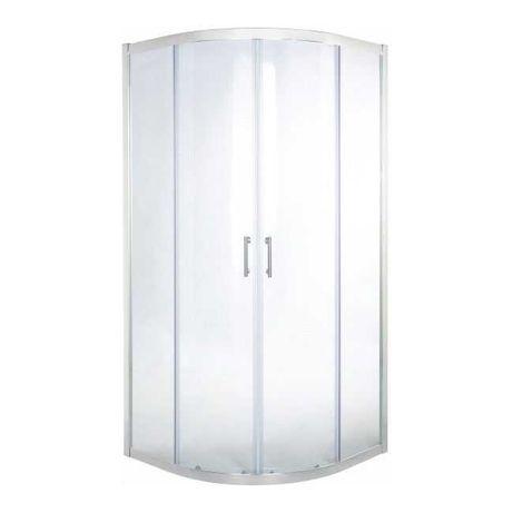 Kabina prysznicowa półokrągła 80 x 80 x 190 cm chrom/transparentna
