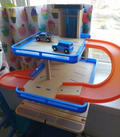Парковка большая деревянная Play tive с машинками