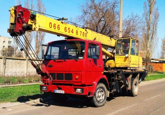 Аренда, услуги автокрана 12-25 тонн, кран манипулятора 10т. Николаев