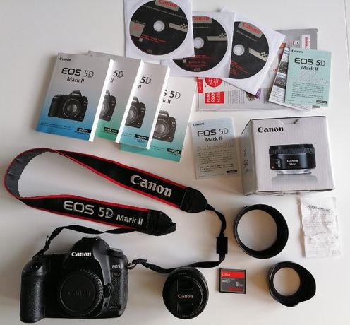 Canon 5D Mark II Body + EF 50 1.8 STM pełna klatka lutrzanka