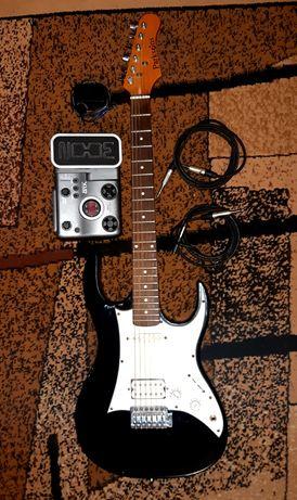 Электро гитара Parksons + педаль