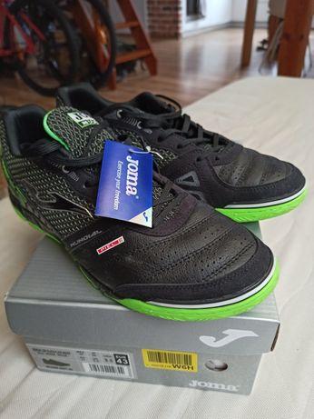 Buty Joma r. 43 czarne zielone męskie sportowe halówki do piłki halowe