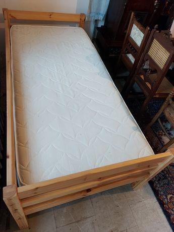 Pojedyncze! Drewniane! Łóżko!