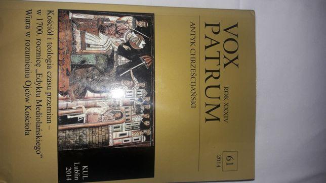 Vox Patrum 61 2014 Antyk Chrześcijański stan bardzo dobry