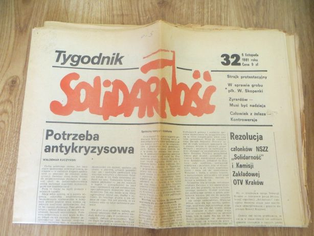 Tygodnik Solidarność z roku 1981