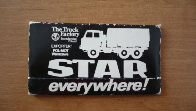 Kolekcjonerskie zapałki eksportowe FSC Star Starachowice