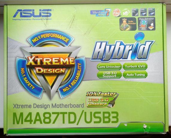 Материнская плата Socket AM3 Asus M4A87TD/USB3 + Phenom II B59 + Кулер
