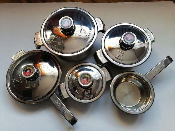 Garnki SWISS Chef - 9 elementów