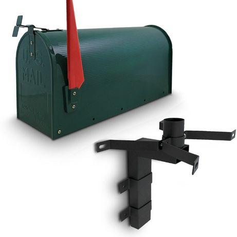 M13462 Skrzynka pocztowa USA amerykańska zielona + uchwyt naścienny