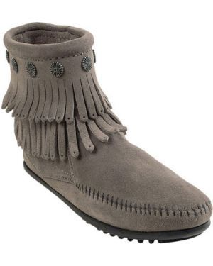 Демисезонные ботинки полусапожки сапоги с бахрамой/Minnetonka USA/