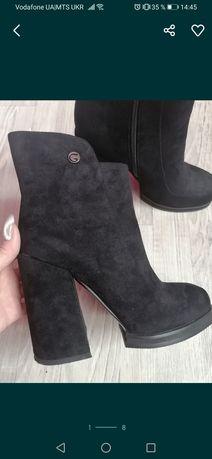 Продам новые ботинки 39р натур замш весна осень