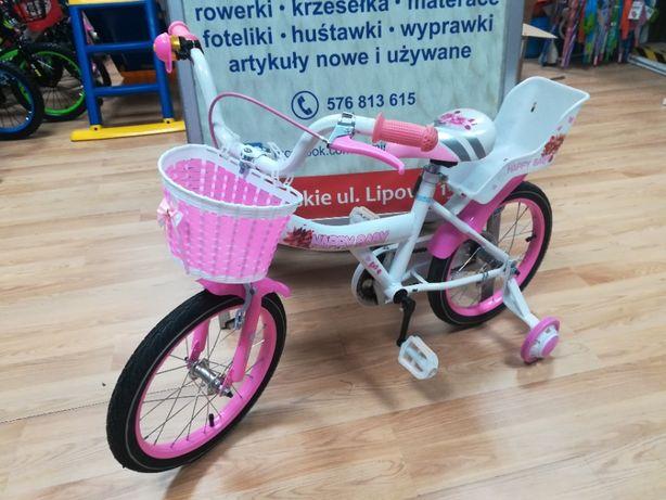 Promocja Nowy rower,rowerek 4-7 lat,koła 16 cali,kółka boczne,koszyk