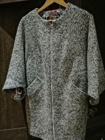 Пальто шерсть фасон кокон