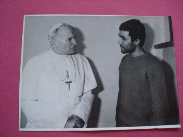 stare zdjęcie Jan Paweł II z Ali Agca duży format 1983