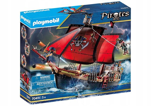 Playmobil Pirates 70411 Statek piracki