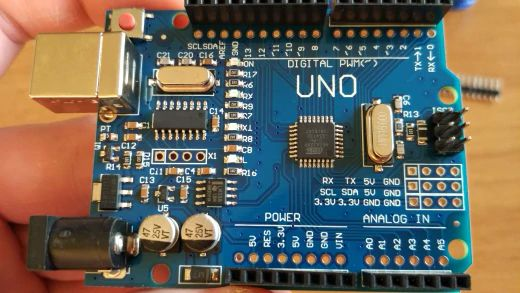 Arduino UNO R3 CH340G MEGA328P чип 16 МГц ATMEGA328P-AU+ USB кабель