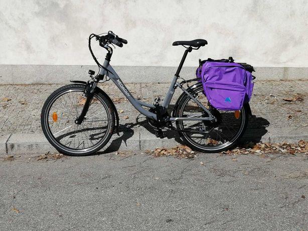 Bicicleta elétrica roda 24 para senhora
