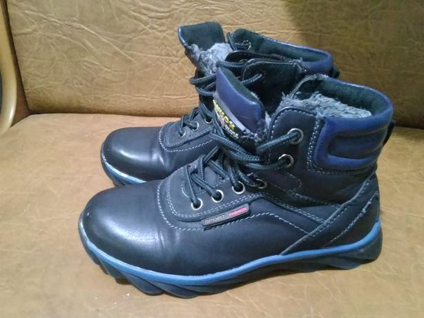 Ботинки синие, зимние 31й размер