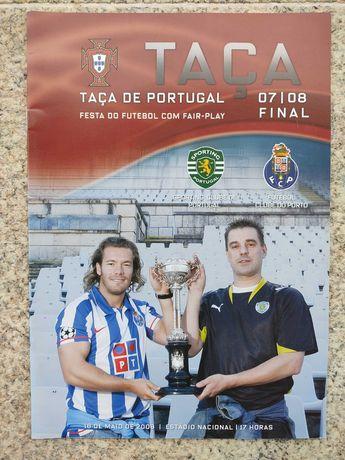 Programa/revista final Taça Portugal 2008 Sporting-FC Porto