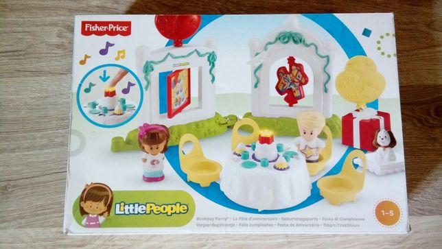 Fisher price zestaw urodzinowy little pepole NOWE