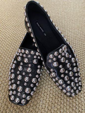 Buty ZARA, czarne, ćwieki, rozm. 35