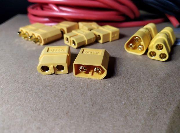 Электрический разъем высокотоковый коннектор XT60 XT90 пара AWG