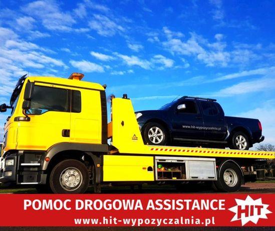 Holowanie z OC sprawcy. Pomoc Drogowa 24H, transport maszyn, laweta