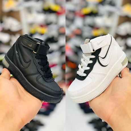 Детские кожаные кроссовки Nike air force кросовки для мальчика девочки