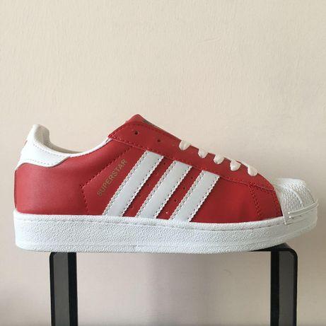 Adidas Superstar. Rozmiar 36,37,38,39,40,41. Kolor czerwony