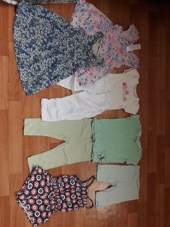 Ромпер,платице, футболка,лосины,бодик.состояние идеальное