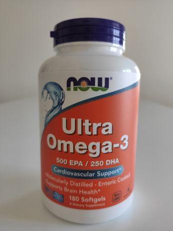 Рыбий жир, Омега 3, Ultra Omega-3 Now Foods 180 капсул