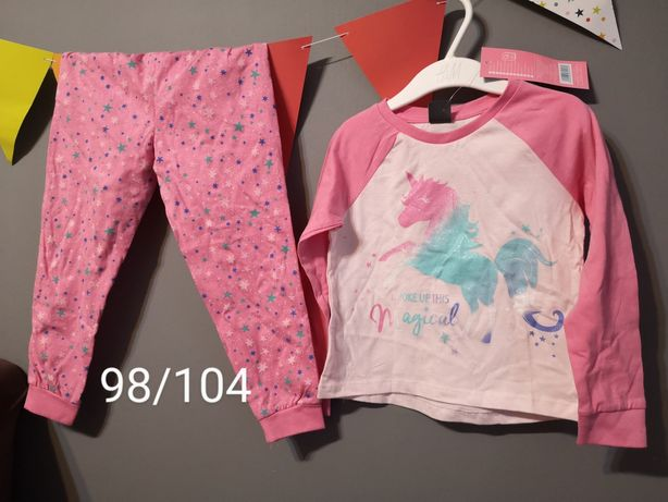 Pizama pidzama 98 / 104 cm dwuczesciowa spodnie bluzka unicorn nowa