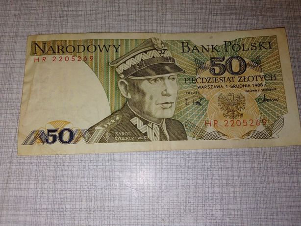 Stare 50zl banknot