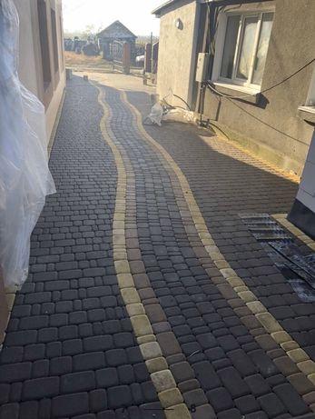 Тротуарна плитка. Старе місто. Кирпичик. Укладка 140грн/м2