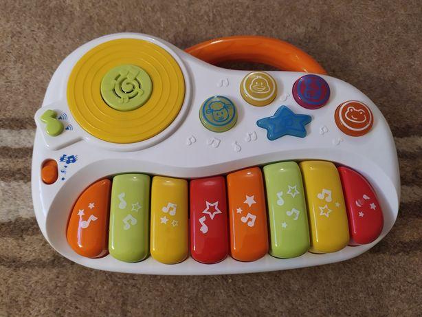 Grające interaktywne pianinko Smoby, okazja!