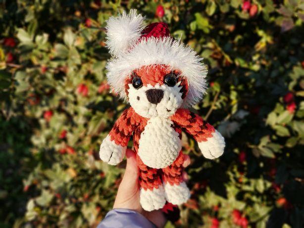 Мягкая игрушка Тигренок тигр, вязаный тигр