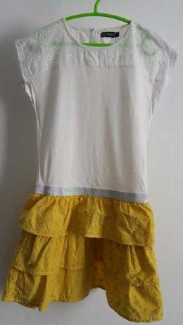 Vestido Branco e Amarelo 8 Anos+Oferta