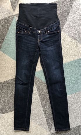Spodnie jeansy ciazowe hm mama rozmiar 36