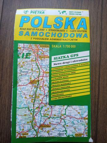 Mapa samochodowa Polski. Piętka.