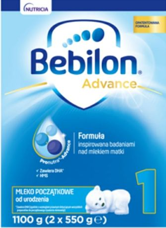 "BEBILON ADVANCE 1100g ""1, 2, 3, 4"""