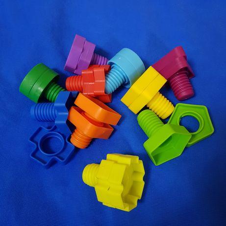 Сортер болты и гайки, пластик 10 элементов